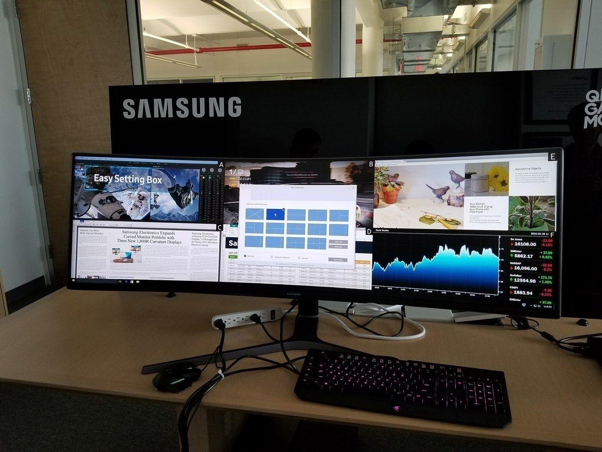 Самсунг хамгийн өргөн дэлгэцийг танилцууллаа