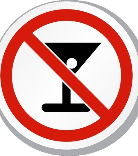 3ce9fd no alcohol iso prohibition sign is 1098 x220