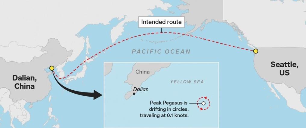 A99129 pegasus ship route h678