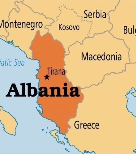 7e3d56 albania map x220