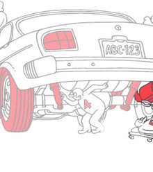 Dac686 checking around the car step 5 check exhaust x220