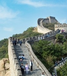 2090f3 great wall china tourists gwoc0417 x220