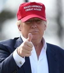 A65832 donald trump thumbs up x220