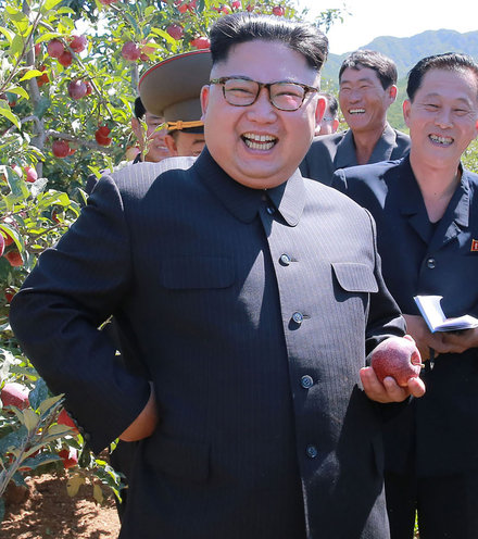 7277de kim jon un smile with apple tree x220