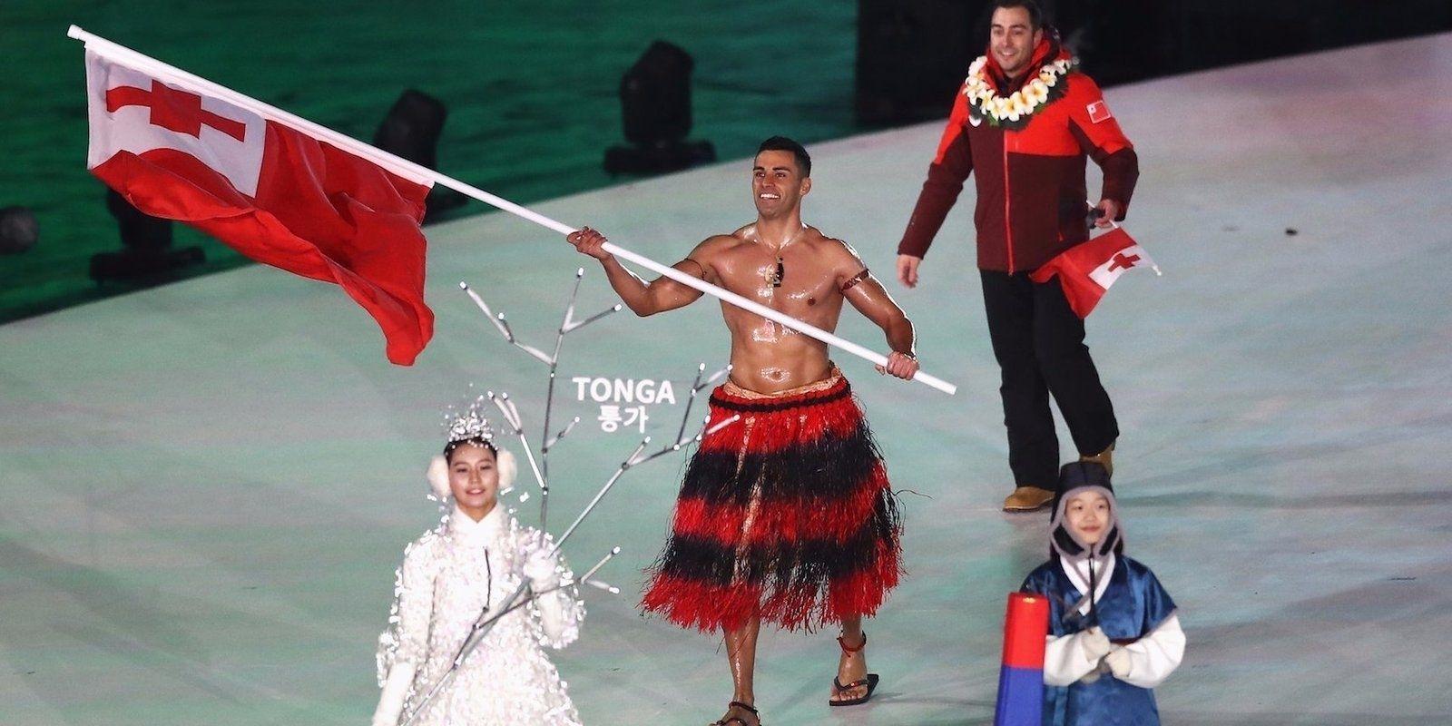 """Тонга улсын """"цээж нүцгэн"""" ганц тамирчин гурав дахь олимпийн наадамдаа өрсөлдөнө"""