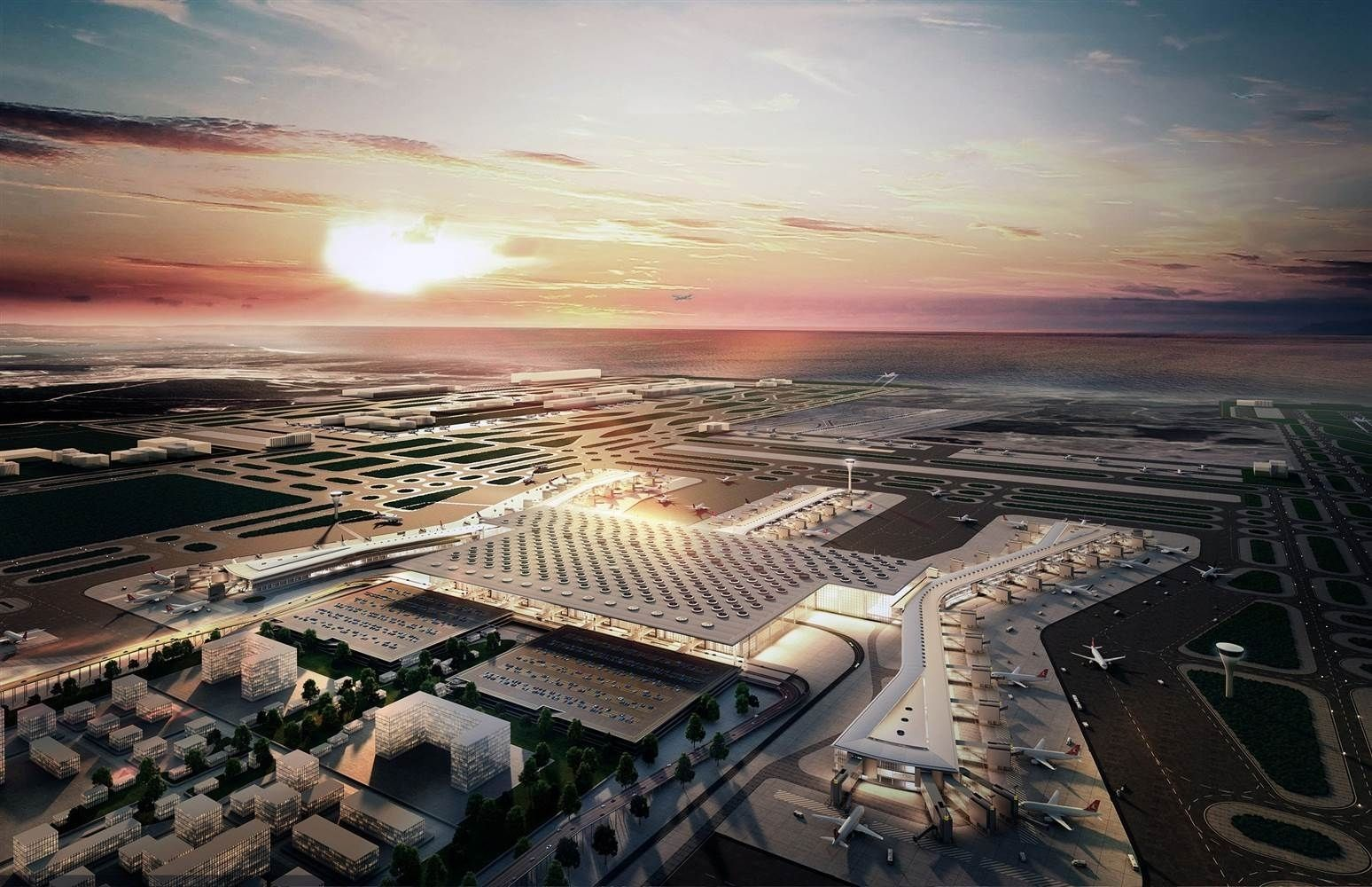 Дэлхийн хамгийн том нисэх буудал аравдугаар сард нээгдэнэ