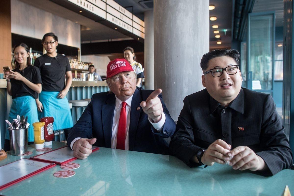 0c0f1c_5_x974 Хуурамч Трамп, Ким нар Сингапурт түрүүлж уулзжээ