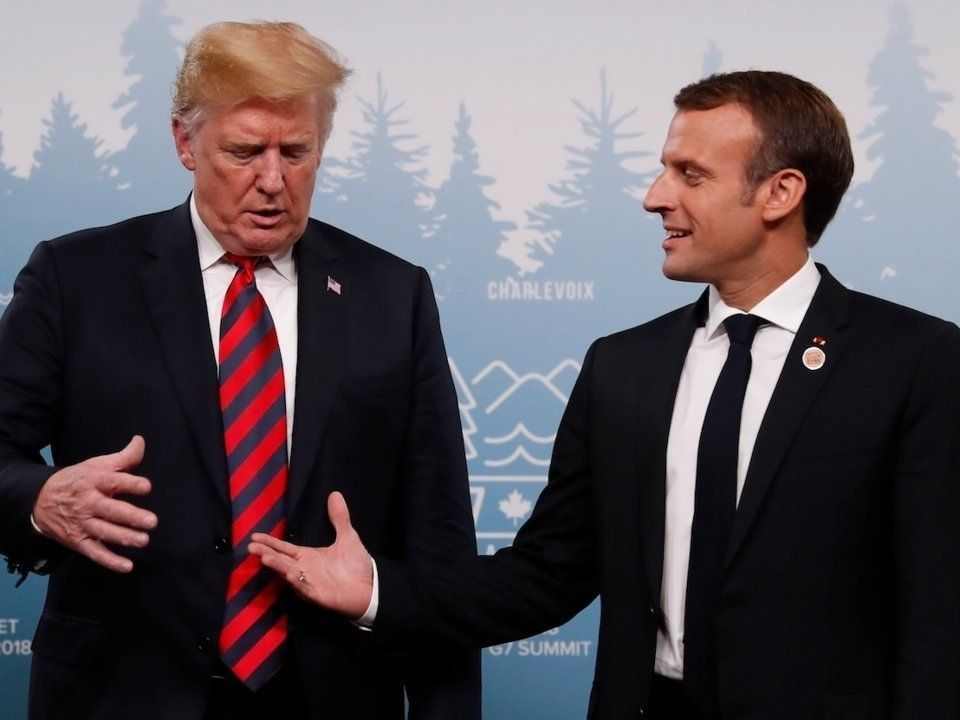 АНУ-ын ерөнхийлөгч Дональд Трамп, Францын ерөнхийлөгч Эммануэл Макрон зурган илэрцүүд