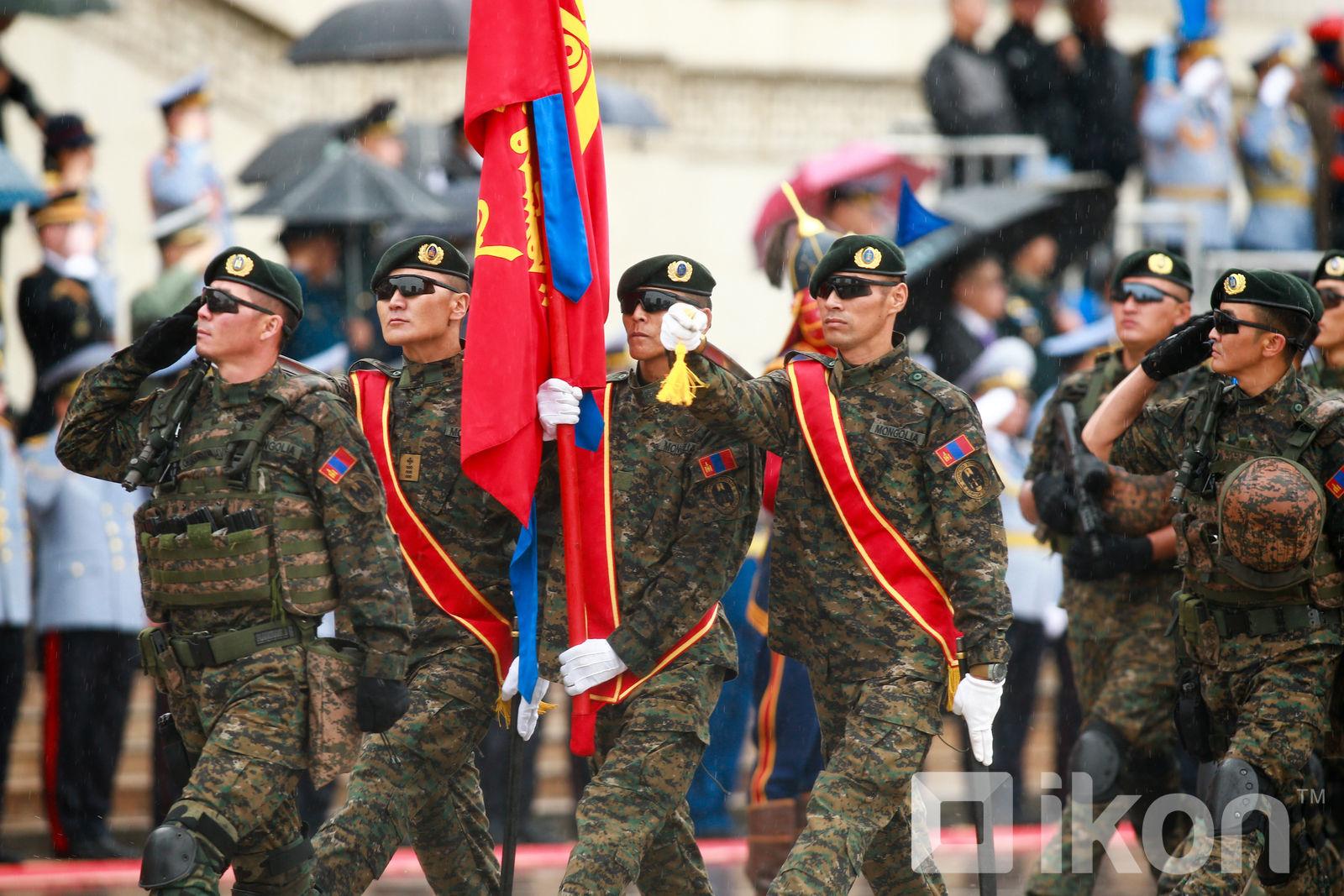 Военный парад в Монголии в честь Дня народной революции 1921 года Монголии, народной, революции, войск, СухэБатор, победу, парад, честь, министром, УланБатор, Народное, сформировано, столицу, освободили, генерала, Штернберга, Унгерна, барона, премьерминистром, белогвардейского