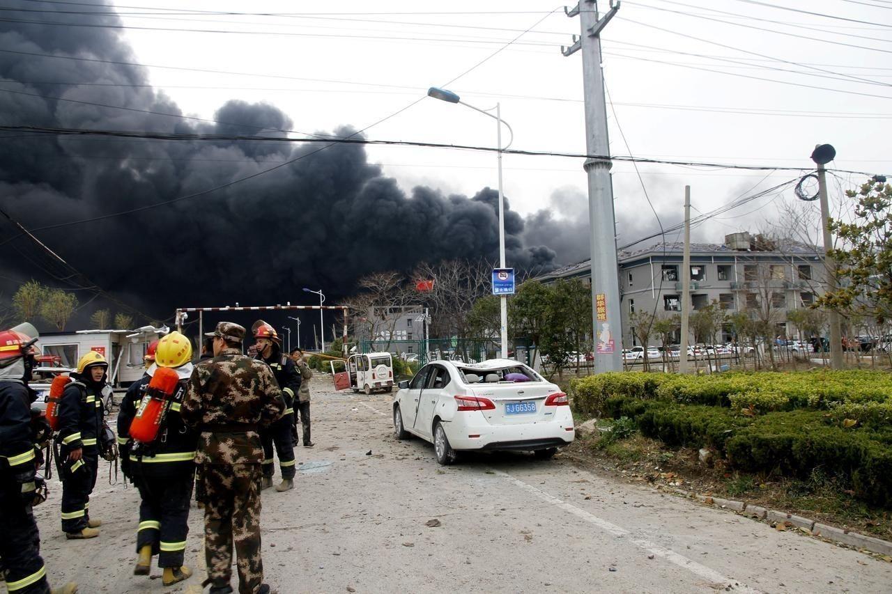 Хятадын химийн үйлдвэрт гарсан дэлбэрэлтийн улмаас 44 хүний амь үрэгдэж, 640 хүн шархдаад байна