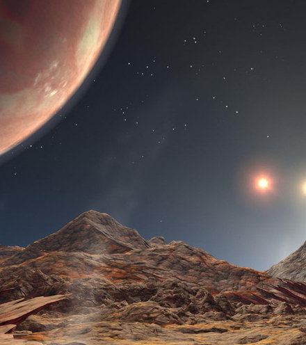 E6e36e exoplanet with three suns x220