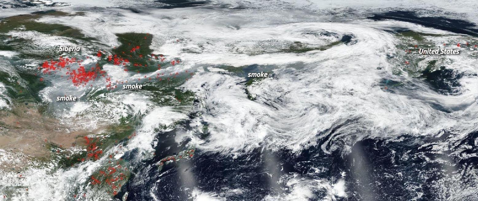 Сибирийн түймрийн утаа АНУ, Канад руу чиглэж байгааг NASA мэдээллээ