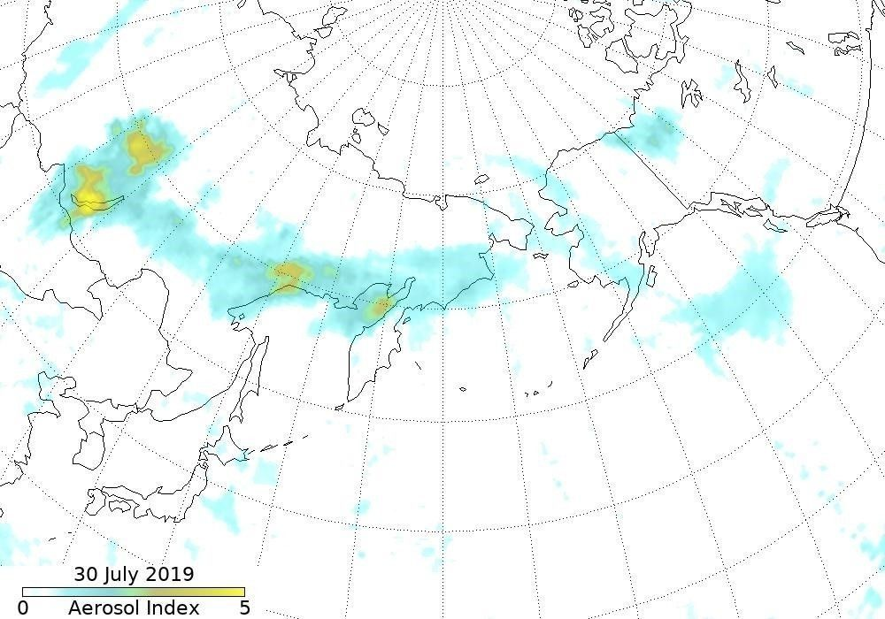 e14e05_siberia_sat_image_map_x974 Сибирийн түймрийн утаа АНУ, Канад руу чиглэж байгааг NASA мэдээллээ