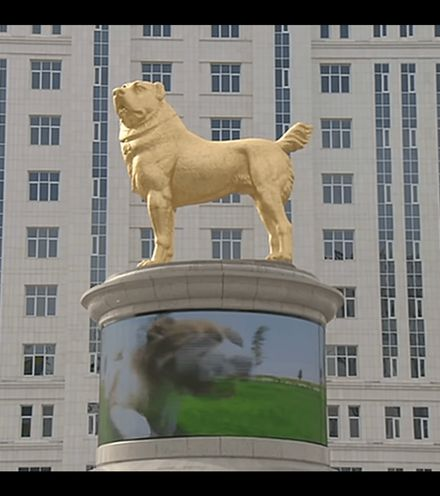Tbl5u4 golden dog statue x220