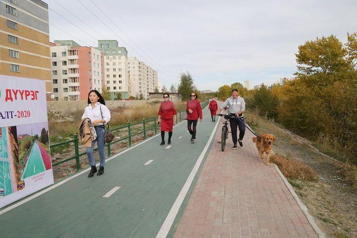 """Туул голын эрэг дагуу """"Эко зурвас"""" буюу 1.6 км урт гүйлт, дугуйн зам ашиглалтад орлоо"""